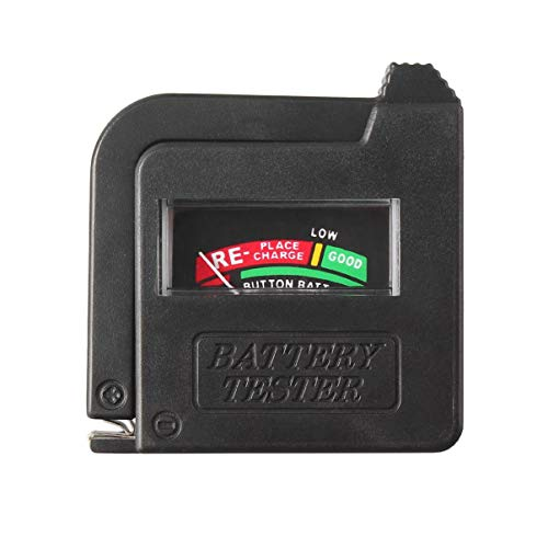 BigBigHundred Bt-168 Probador de batería universal para 9V 1.5V y pila de botón Aaa Aa CD Indicador de comprobador de voltaje de pila de botón universal - Negro