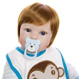 LYHY Pflegende Puppen 23 in 57cm Vollvinyl Silikon Körper Real Touch Baby Lebensechte...