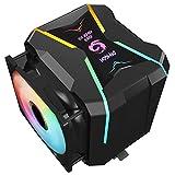 Gegong G400-ARGB CPU Refroidisseur AM4 CPU 5V Addressable RGB Cooler 2 Heatsinks 2 ventilateurs de...