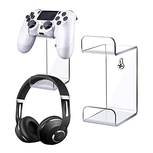 Kopfhörerhalter Für PS5 Ständer Für Xbox-Controller, Wandhalterung Kopfhörer Ständer Für Pulse 3D Headset Und Gamepad Controller, Platz Sparen, Zubehör Kompatibel Mit Der Original Spielekonsole