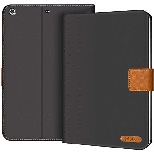 Verco Hülle für iPad Mini 3 / iPad Mini 2 / iPad Mini 1, Schutzhülle Tablet Tasche Standfunktion Cover, Schwarz