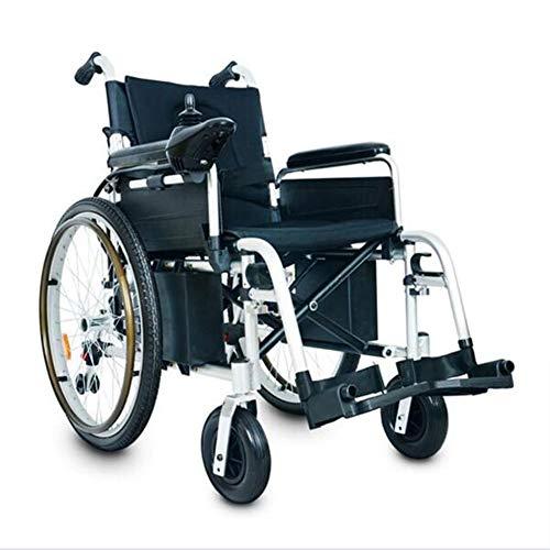 Inklapbare gemotoriseerde rolstoelen, licht, draagbaar, 360 graden – Joystick-bediening, krachtige rolstoel met twee motoren.