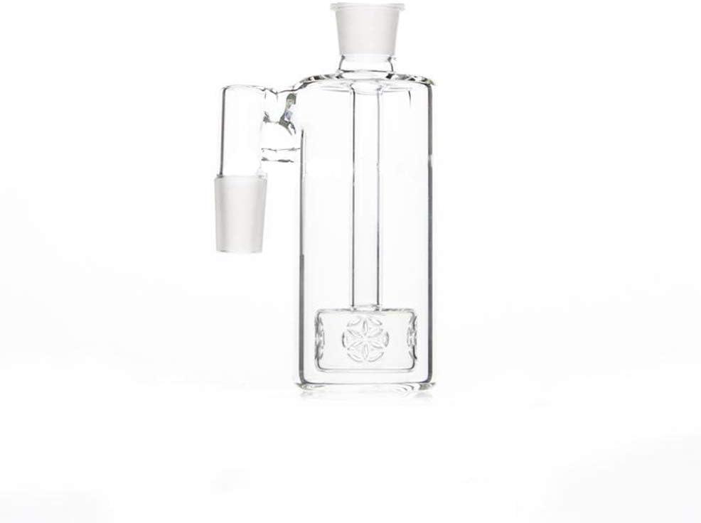 5.1 14.5mm Junta con vidrio de 90 grados Ashcatcher para vidrio Bong 14.5MM Altura del colector de ceniza de vidrio JINNUO