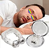 Clipple Silicone Magnetic Anti Snore Stop Snoring Nose Clip Sleep Sleeping Aid (Transparent)
