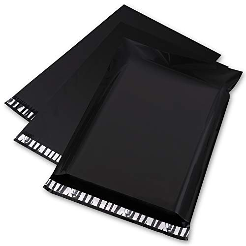 Metronic 100PCS Poly Mailers 10x13 Inch Envelopes Mailers Shipping Bags with Self Adhesive Waterproof and Tear-Proof Postal Bags in Black