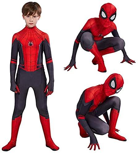 Massimiliano Incas Kids Bodysuit Superhero Costumes Spandex Halloween Cosplay Costumes (Kids-XS(Height:37-42Inch), Red)