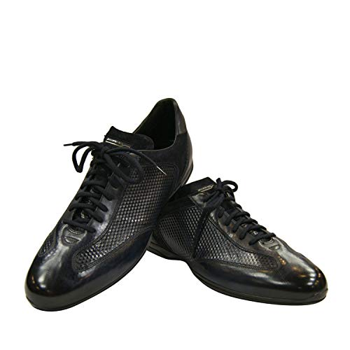 Santoni AMG Sneakers Blau MSAM14401NARRFYSU52 (41 EU, Blau)