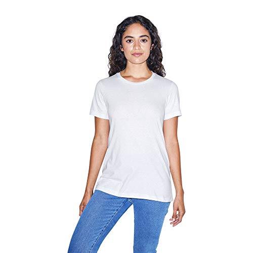American Apparel Women's Fine Jersey Classic Short Sleeve Crewneck T-Shirt, White, Medium