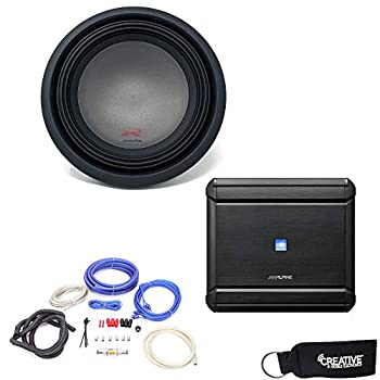 Alpine MRV-M500 Amplifier and a R-W12D4 R-Series 12 inch Dual 4 Ohm Subwoofer - Includes Wire kit