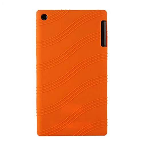 Silicon Case For Lenovo Tab 2 A7-30HC A7-30GC A7-30TC A7-30DC Soft Back Protect Shell For Lenovo Tab2 7.0 A7-30-Orange