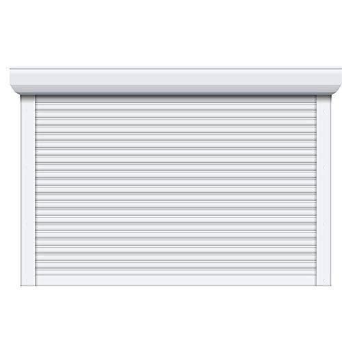 Porte de garage enroulable Blanc - Pose comprise (H 2,15m x L 2,4m)