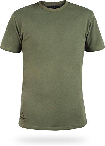 normani Winter Unterziehhemd Kurzarm T-Shirt mit Plüschfutter Farbe Oliv Größe XL/8