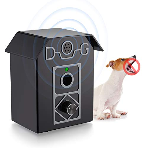 Antibellhalsband, Ultraschall Anti Bell Halsband Erziehungshalsband Hund Rinde Abschreckung, wasserdicht & Outdoor Rindensteuerung sicher Elektrohalsband für Hunde Training im 50 Fuß Bereich