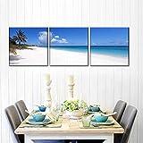 IMAX888 3 Piezas De Pared Fotos Cuadros En Lienzo Amanecer En La Playa Caribeña HD Imprimir Modern Artwork Decoración De Arte De Pared Living Room 3 Piezas Artística Cuadros