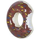 Flotador en forma de donut, hinchable, 120cm, marrón, 120 cm