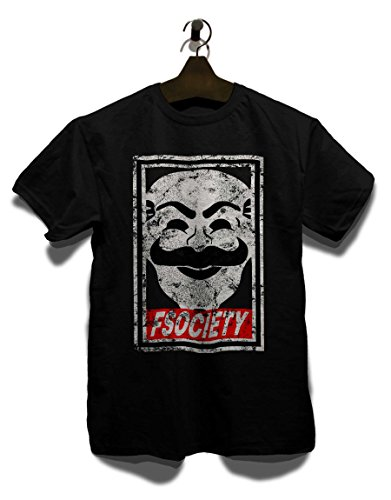 Fsociety T-Shirt schwarz M