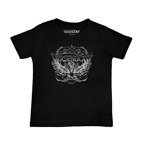 Metal Kids Versengold (Rabe) - Kinder T-Shirt, schwarz, Größe 140 (10-11 Jahre), offizielles Band-Merch