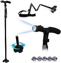 Magic Cane - Baston de paseo plegable con luz LED y altura regulable