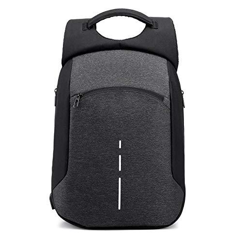 Zaino Borsa per Zaino da Uomo con Ricarica USB Marca Laptop da 15,6 Pollici NotebookMaschio Zaino Impermeabile Zaino Scuola Zaino Nero