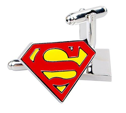 NuoYa005 Superman gemelos para camiseta de manga corta para hombre eslabones de...