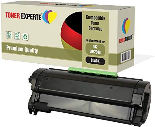 TONER EXPERTE Compatible 50F2000 502 Cartucho de Tóner Láser para Lexmark MS310d, MS310dn, MS410d, MS410dn, MS510dn,...