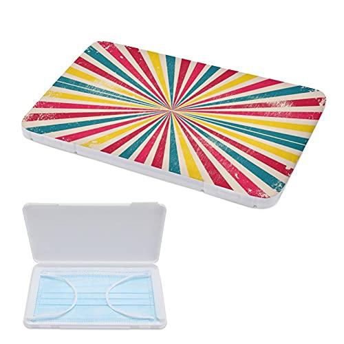 Xingruyun Caja De Almacenamiento De Mascarilla Rayas De Colores Divergentes Bolso De Mascarilla Portátil Estuches De Almacenaje Caja De Mascarillas 13x13cm