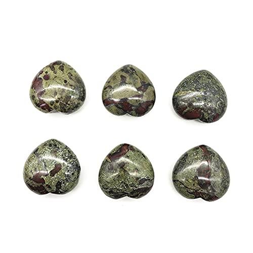 THEAHUE DL903 1 PC Dragón Natural Piedra de Sangre En Forma de corazón Cristal Polidado Piedra Curación Decoración Regalo Piedras Naturales y minerales Cristales
