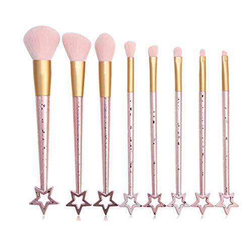 YWSZJ 8 PCS Star Maquillage Brosse Set Ombre à paupières Blush Lèvre Power Emile Brosse Soft Brush Soft Brosse Outil Accessoires Kit (Color : C)