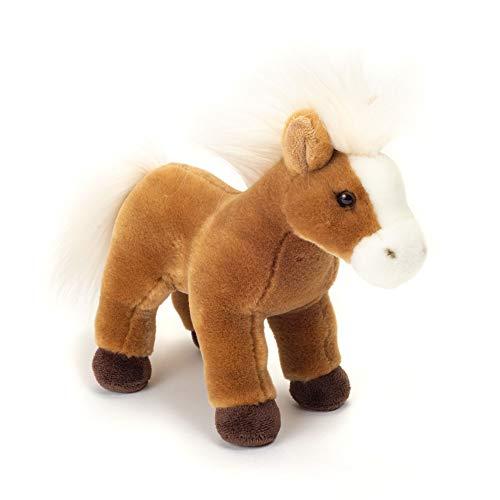 Teddy Hermann 90257 Pferd stehend 25 cm, Kuscheltier, Plüschtier