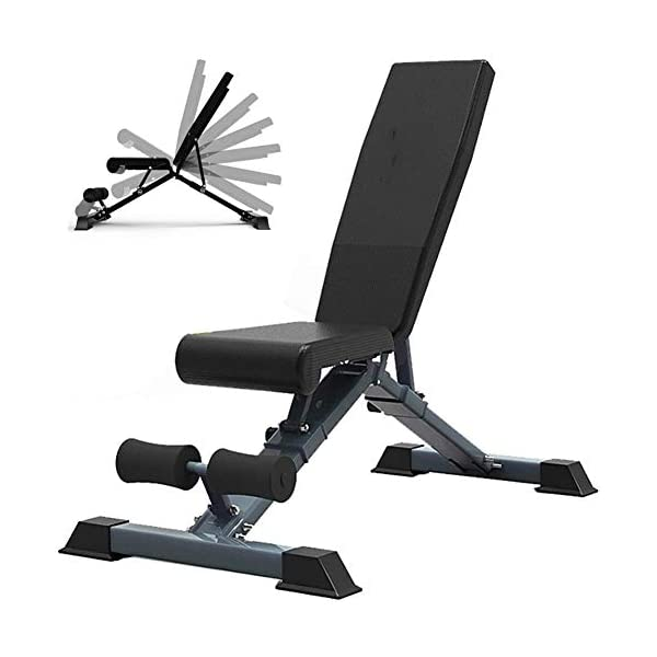 TOPYL-Aptitude-quipement-De-Aptitude-Banc-Dentranement-Flat-Fly-Weight-Press-Fitness-Multi-But-pour-Home-Gymhaltre-Banc-De-Musculation-Noir