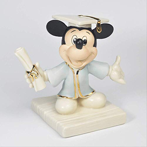 SUPERHUA Mickey ceremonia de graduación sombrero cuadrado de soltero uniforme de cerámica adornos de artesanía