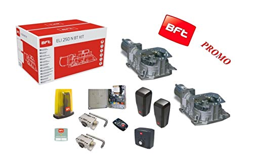 BFT Kit Eli 250 BT N Automatische poort elektrisch 24 V tot 400 kg en 3,5 meter motor Interrato R93014200001