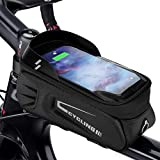 <span class='highlight'><span class='highlight'>Achort</span></span> Bike Phone Front Frame Bag Waterproof Bicycle Phone Mount Pack Top Tube Handlebar Bag with Touch Screen, Cycling Pouch Holder Case for Phones Below 6.5