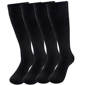 メンズ靴下 暖かい 厚手 ハイソックス 冬用 25-28cm 長丈 メンズソックス ビジネス靴下 防寒 柔らかい スポーツ 冷え取り 寒さ対策 蒸れない 裏起毛 男性ソックス Dreecy