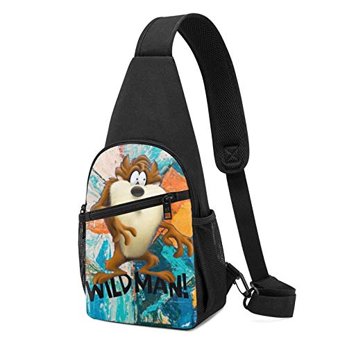 JONINOT Taz Looney Crossbody Schultertaschen Rucksack Rucksack Umhängetasche Daypack Brusttasche Wandern