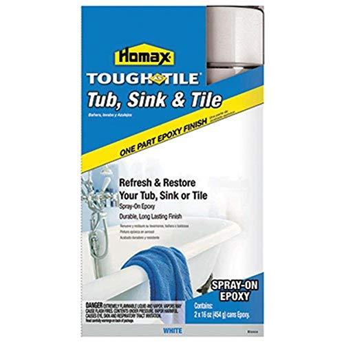 Homax - 41072207713 Tub and Sink One-Part Spray-On Epoxy, White, 32 oz