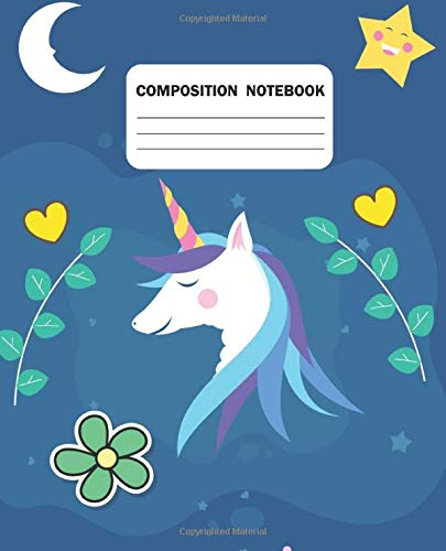 Composition Notebook: Unicorn College Ruled Paper 110 Sheet Office Dairy Note Books Journal Workbook for Teens Kids Students Girls for Home School College