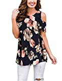 Hawaiian Shirts for Women Plus Size,Tanst Sky Summer Clothing Short Sleeve Tunics Crew Neck Swing Hem Workout Tops Charming Nice Stylish Outfit Holiday Dressy Blouse Navy Blue XL