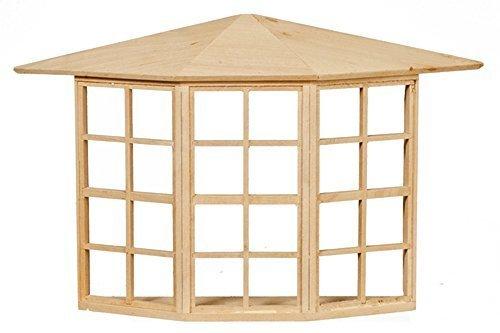 Melody Jane Puppenhaus bar Holz Georgischer Bay Schleife Fenster 24 Ausschnitt 1:12 DIY Builders