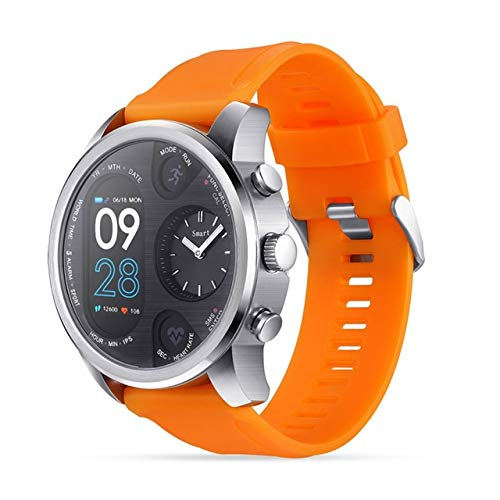 SmartWatch LLD T3 DUAL Mostrar reloj inteligente para hombres IP68 Pulsera de fitness impermeable 15 días STANDBY Business SmartWatch Activity Tracker (Negro) Bluetooth Smart Watch ( Color : Orange )