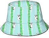 Unisex Animales exóticos del zoológico Sombrero de Cubo de Viaje Gorra de Pescador de Verano Sombrero para el Sol-Lindo Panda de Dibujos Animados