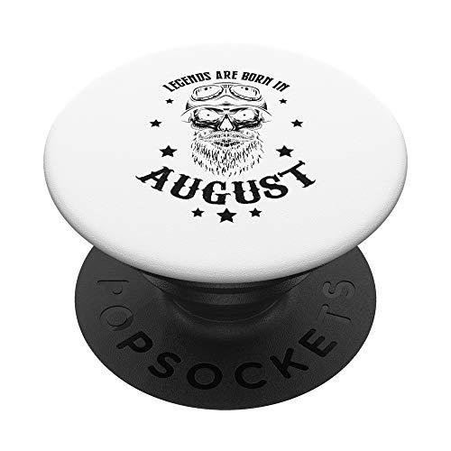 Regalo di Compleanno Leggenda per Uomo Donna Nata in Agosto PopSockets PopGrip: Impugnatura per Telefoni Cellulari e Tablet Intercambiabile
