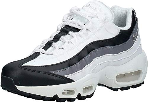 Nike Wmns Air MAX 95, Zapatillas de Atletismo Mujer, Multicolor (Black/Gunsmoke/Platinum Tint 021), 38 EU