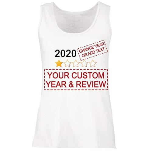 lepni.me Camisetas sin Mangas para Mujer Muy Malo No Recomendaría Comentarios Valoración Personalizada de Estrellas y Texto 2021 Revisión (XXL Blanco Multicolor)