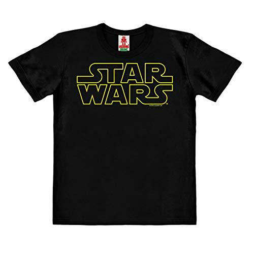 Logoshirt - Star Wars - Logo - Camiseta 100% algodón ecológico para niño - Negro - Diseño Original con Licencia, Taglia 152, 11-12 años