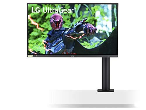 LG 27GN88A-B 68,5 cm (27 Zoll) UltraGear QHD IPS Gaming-Monitor (144 Hz, 1ms GtG, G-SYNC-kompatibel, Ergonomischer Standfuß, 2560 x 1440, komplett verstell- und schwenkbar), schwarz