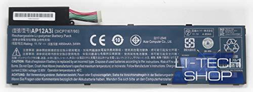 LI-TECH Batteria Compatibile 4800mAh per Acer Travel Mate TMP645-MG di Ricambio Notebook
