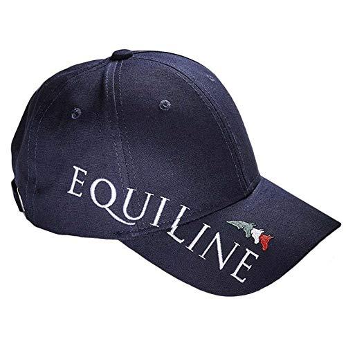 Equiline Gorra unisex azul con logotipo grande y texto