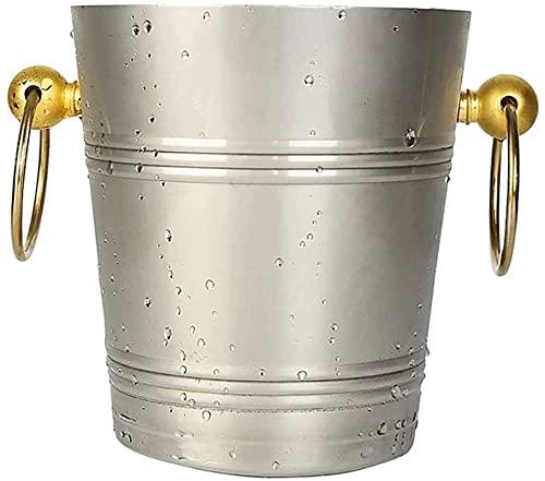 YYhkeby Edelstahl Champagner Eimer Eiskübel Bierfass EIS Weinfass Hmlife (Größe: 5L) Jialele (Size : 3 L)