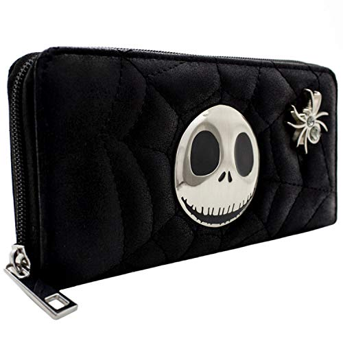 Cartera de Nightmare Before Christmas Web Acolchada Negro